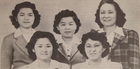 Five Americans of Japanese descent who came to Union in 1942 during the forced interment.